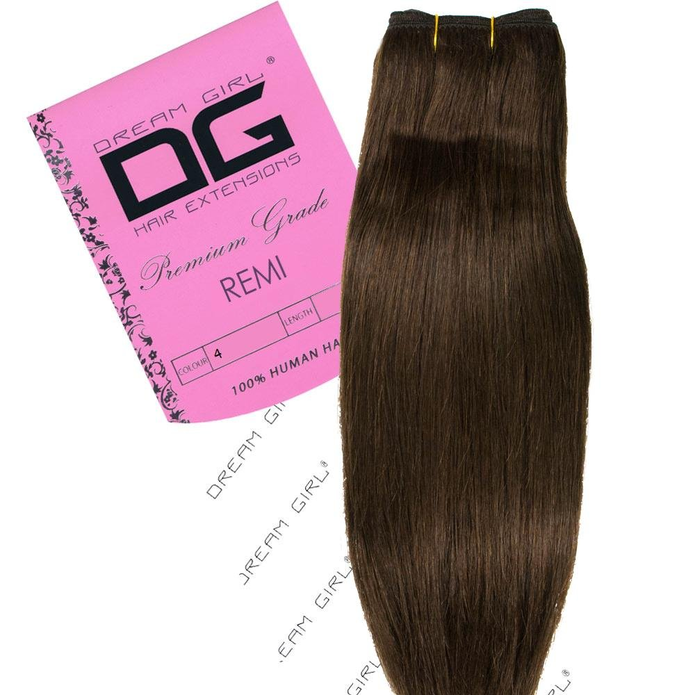 Amazon Dream Girl 18 Inch Colour 4 Remi Weft Hair Extensions