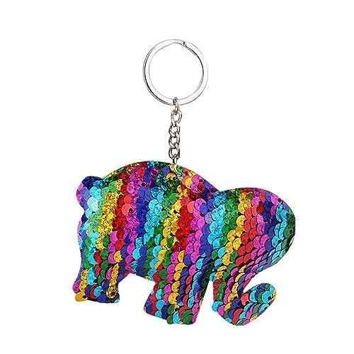 Amazon.com: Danhjin - Llavero con diseño de elefante y ...