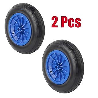 Forever Speed 3.50-8 Rueda maciza para carretilla de almacén profesional o doméstico (2