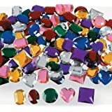 "Fun Express - Jumbo 1"" Assorted Adhesive Jewels (1-Pack of 100)"
