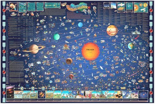 Great American Puzzle Factory Map Of The Solar System 600 Piece puzzle