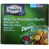 Toppits Ziploc Mini Zip-Verschlußbeutel Sortimentsbox (20 x 150 ml, 20 x 380 ml) - 40St.