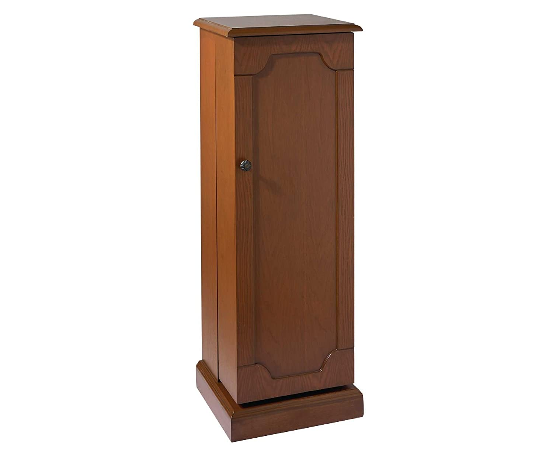Media Cabinet Single Wood Media Storage Shelving Cabinet Tower ...