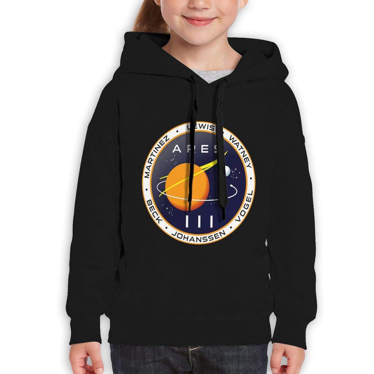 MUPTQWIU Teen Girls Mission to Mars The Martian Leisure Running Black Hoodies