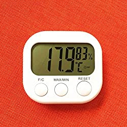 Zehui Thermometer Hygrometer, LCD Digital Temperature Humidity Meter Gauge With Clock 2016 New Weather Station