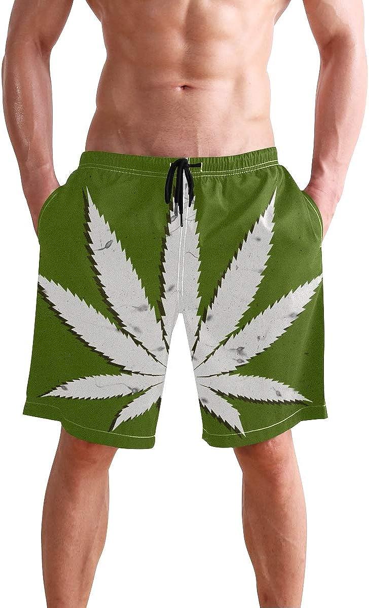 LORONA Marihuana - Bañador de secado rápido para playa
