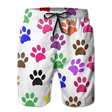 WITHY Beach Yoga Pants, Colorful Paw Prints Sexy Hot Shorts ...
