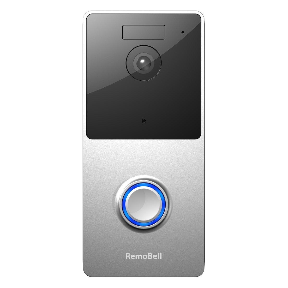 remo+ RemoBell WiFi Wireless Video Doorbell (Battery Powered, Night Vision, 2-Way Audio, HD Video, Motion Sensor, Door Camera)