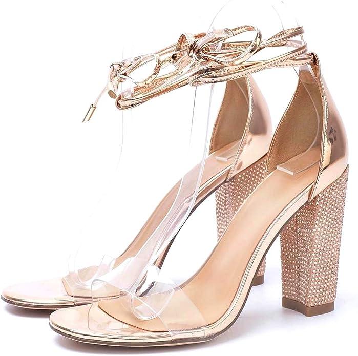 Womens Gold Heels