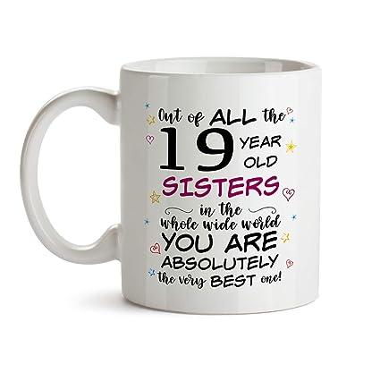 19th Sister Birthday Gift Mug