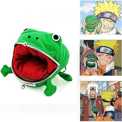 Monedero Creativo de la Rana de la Historieta Monedero de Naruto Monedero del Anime Monedero de la Rana Verde Jj11026