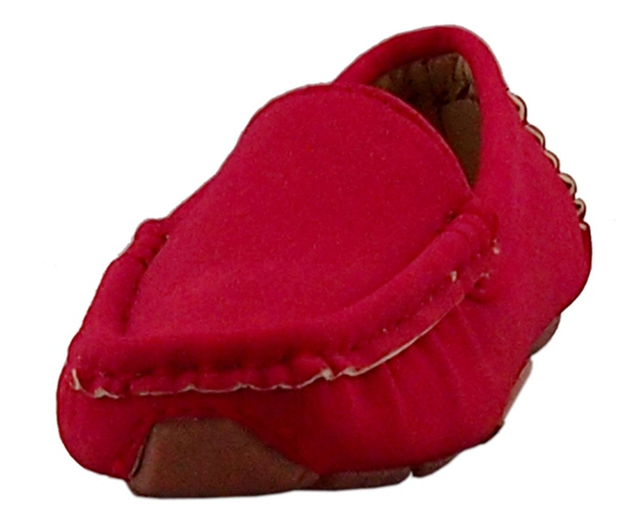 DADAWEN Girl's Boy's Suede Slip-on Loafers Oxford Shoes Red US Size 6.5 M Toddler by DADAWEN (Image #7)