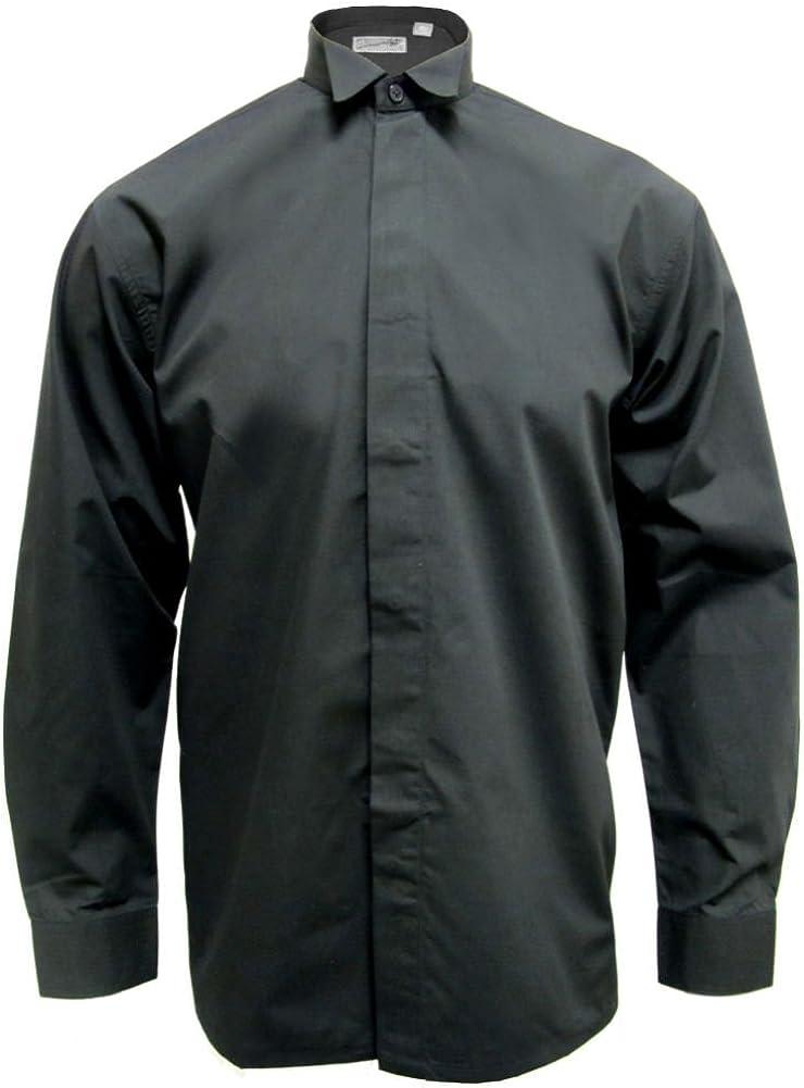 Camicia uomo con colletto diplomatico Nero Tartanista Broadsword
