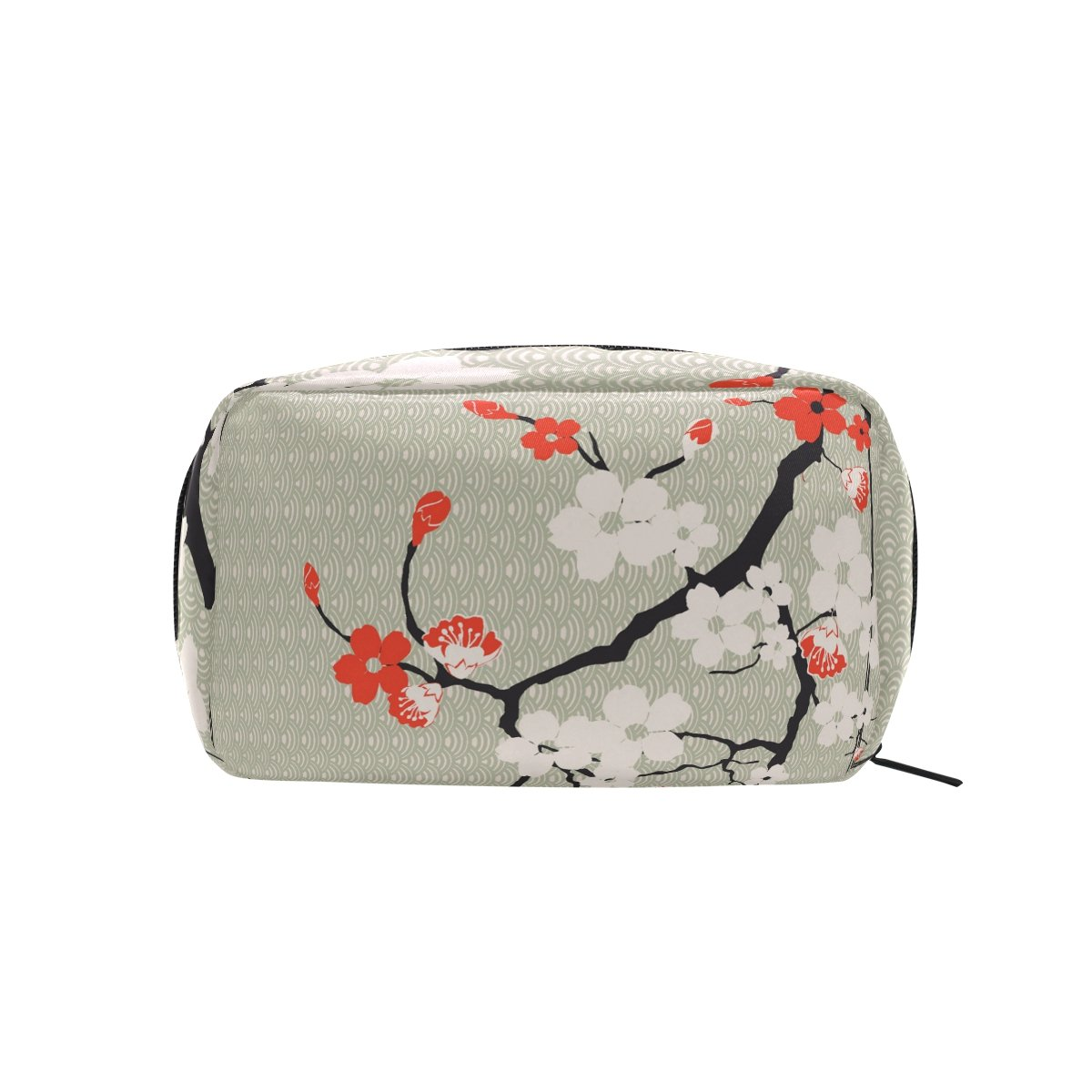 47bb19bd14a3 YZGO Japanese Sakura On Waves Pattern Cosmetic Pouch Waterproof Makeup Bag  Organizer Travel Case