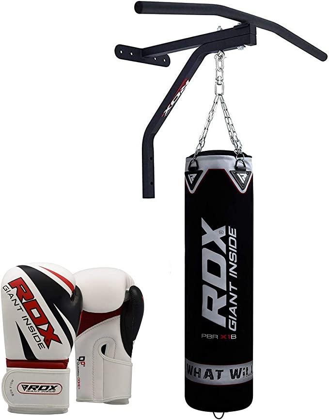 5ft Heavy Filled Boxing Punch Bag MMA Martial Arts UFC Training Gym Workout Men