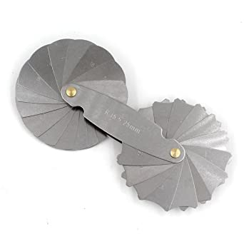 Radius Gauge R15-25mm 30 Leaves Metric Stainless Steel Test