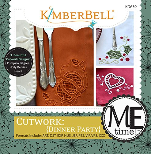 KimberBell - ME Time: Cutwork {Dinner Party} Embroidery CD