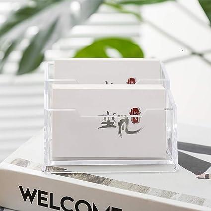 Porta Biglietti da Visita in Acciaio Inox Yajiun 9 x 5 x 4,5 cm Oro