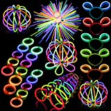 FUN LITTLE TOYS 200Pcs Glow Sticks and 300Pcs Glow Sticks Connectors Party Favors Bulk Glow in the Dark Party Supplies
