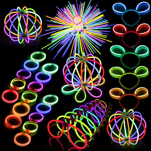 FUN LITTLE TOYS 200Pcs Glow Sticks 300Pcs Glow Sticks Connec