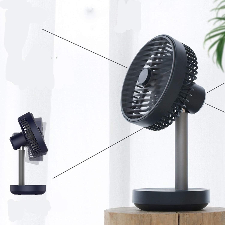 Color : Black Office USB Fans Desktop Fan Mini Mute Charging Shaking Head USB Fan Bed Office Desktop Electric Fan Detachable Cleaning for Home Outdoor Travel