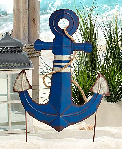 The Lakeside Collection Jumbo Coastal Yard Stake- Anchor (Decor Anchor Outdoor)