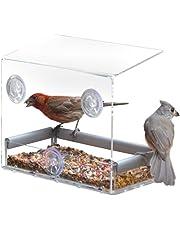 Hanyia Distributeur d'Aliments à l'Extérieur pour les Oiseaux Colle sur le Mur de Verre par Ventouse