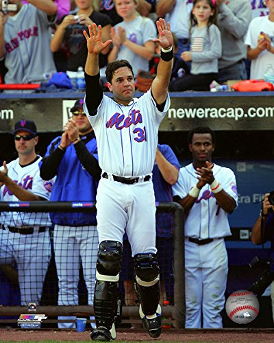 (Mike Piazza New York Mets Final Game at Shea Stadium Photo (Size: 8