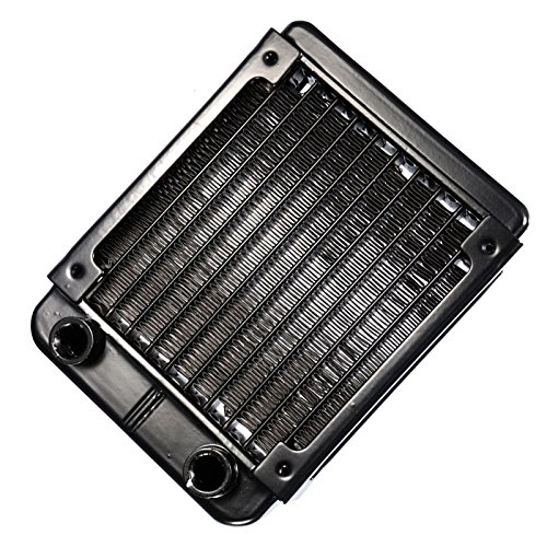 G1/4 90mm Heat Radiator - SODIAL(R)G1/4 90mm Aluminium Heat Radiator For PC CPU Water Cooling Heatsink Black