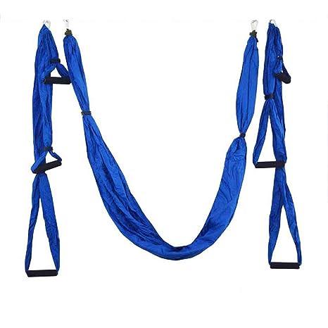 YUMUYMEY Hamaca de Yoga con 6 Asas de Tela de paracaídas a ...