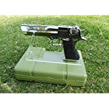 2 Pack of Clear Acrylic Gun Pistols Display Holder Toy Model Pistol Display Shelf