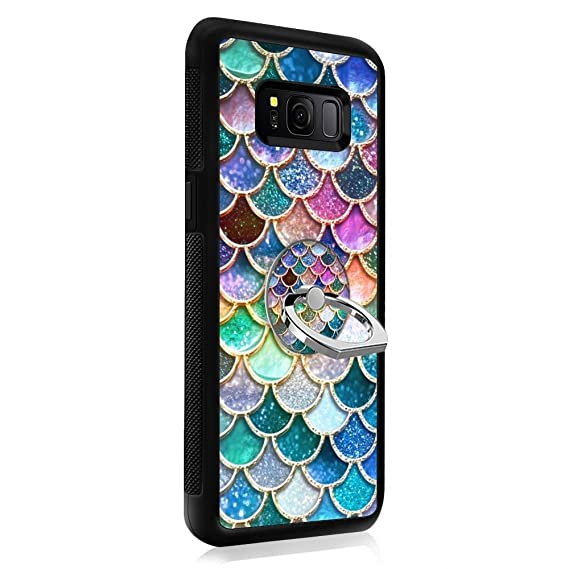 big sale 8941b 81140 Colorful Mermaid Scales Samsung Galaxy S7 Edge Case with Ring Holder Stand  TPU Rubber case only for Samsung Galaxy S7 Edge
