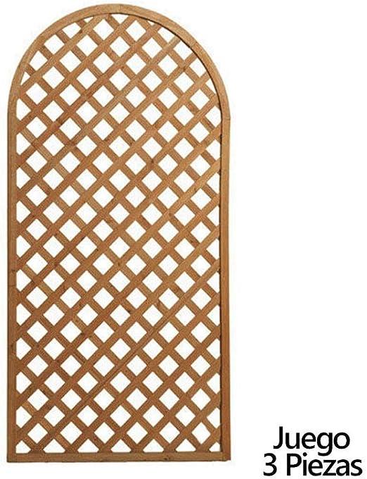 PAPILLON 8043005 Juego de Paneles Celosia Arco Madera 180x90 cm (3 Piezas): Amazon.es: Jardín
