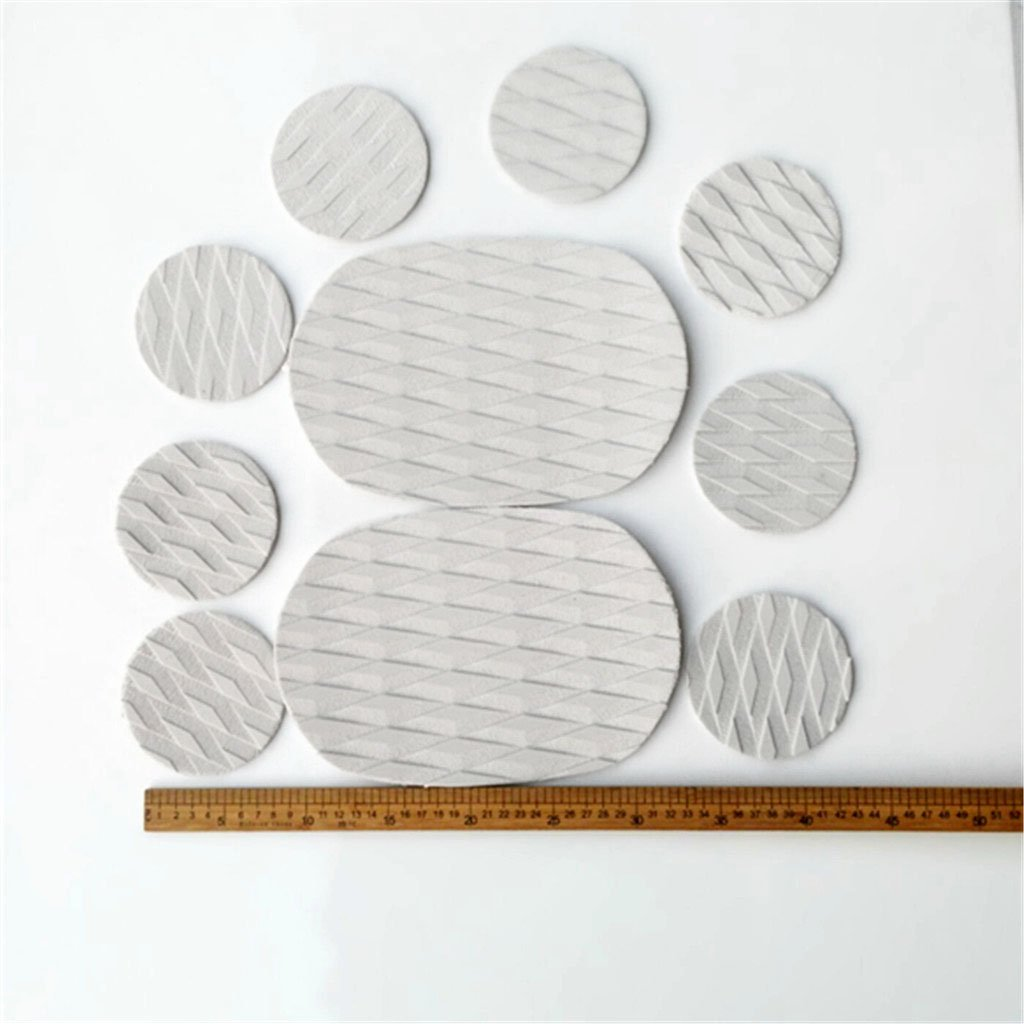MonkeyJack 10 Pieces Diamond Grooved Grey EVA Deck SUP Traction Pad Grip for Dog Stand Up Paddleboard Surfboard - Self Adhesive & Non-slip by MonkeyJack (Image #4)