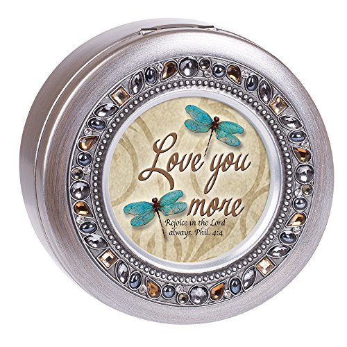 - Cottage Garden Love You More Brushed Silvertone Jewelry Music Box Plays Amazing Grace