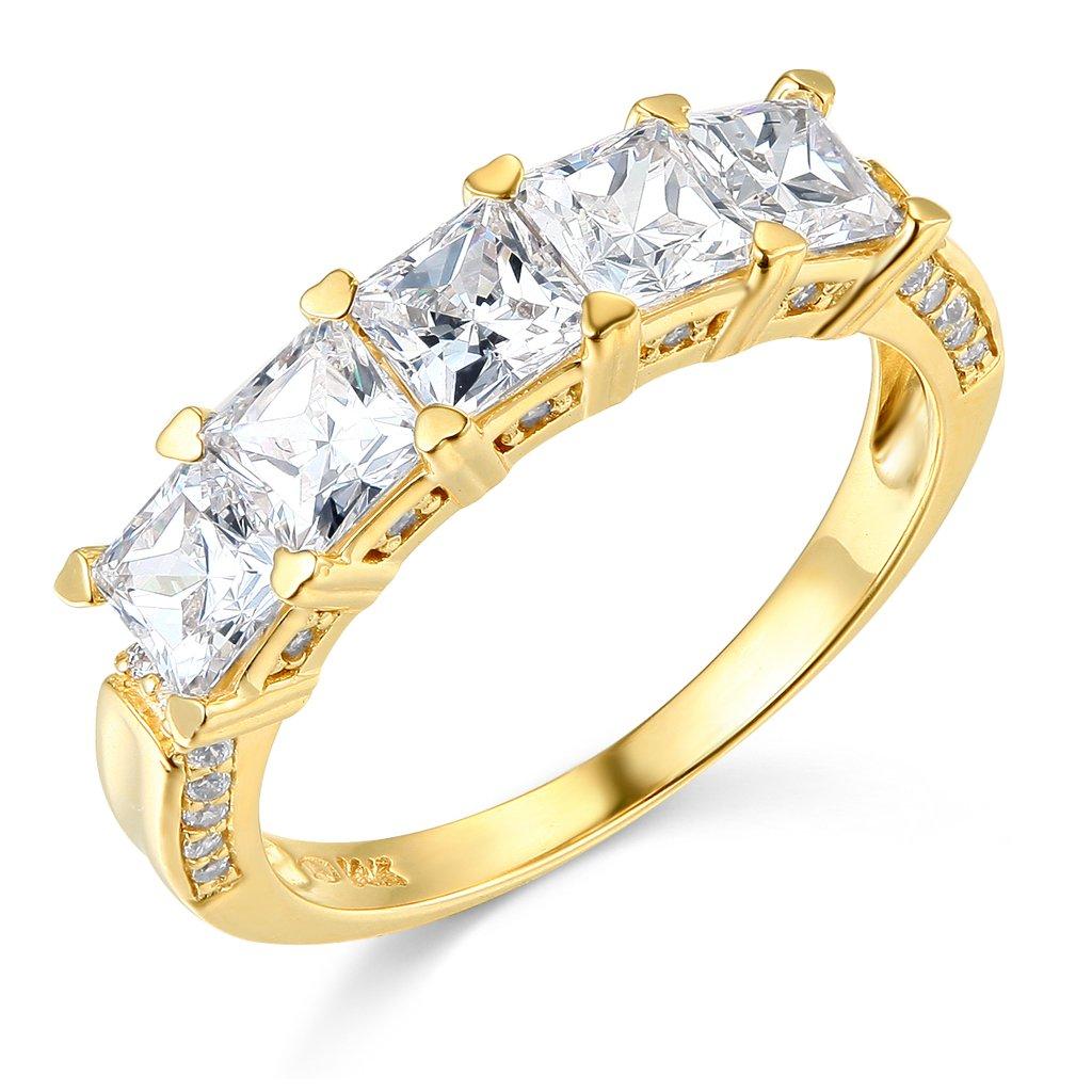 14k Yellow Gold Wedding Band - Size 7