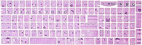Teclado Portátil lavanda pegatina Oso estilo de dibujos ...