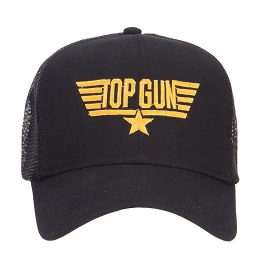 232941f9b73 US Navy Top Gun Embroidered Mesh Cap - Black OSFM at Amazon Men s ...