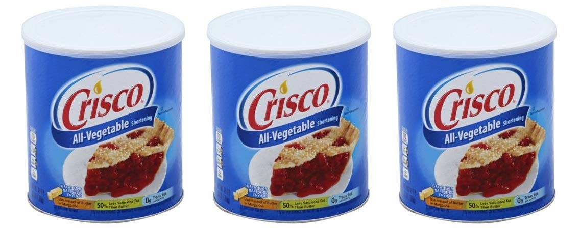 Crisco Vegetable Shortening, 48 fl oz (Pack of 3) by by Crisco