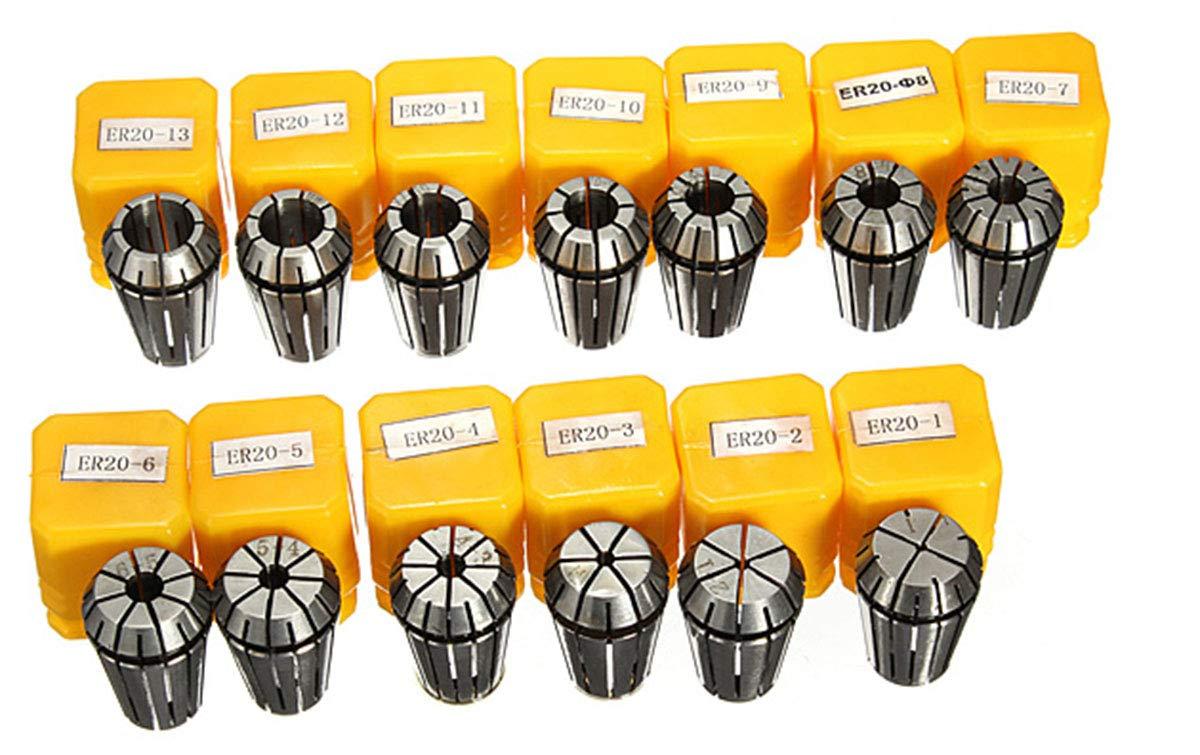 13pcs//Set Spring Chuck 1mm~13mm ER20 Metric