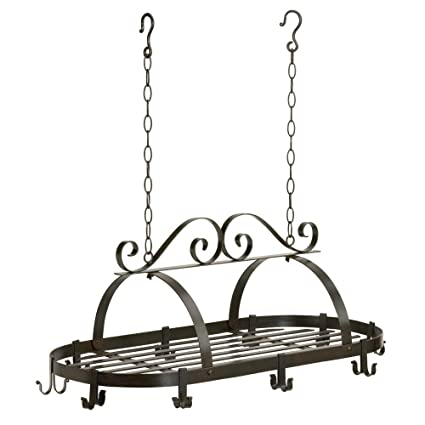 6cb5381a01a Amazon.com  Gift Warehouse 35603 Hanging Iron Pot Rack  Kitchen   Dining