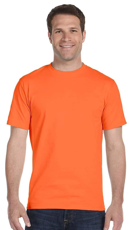 50/50 Ultra Blend Tee Shirt, Color: Orange, Size: XXXXX-Large