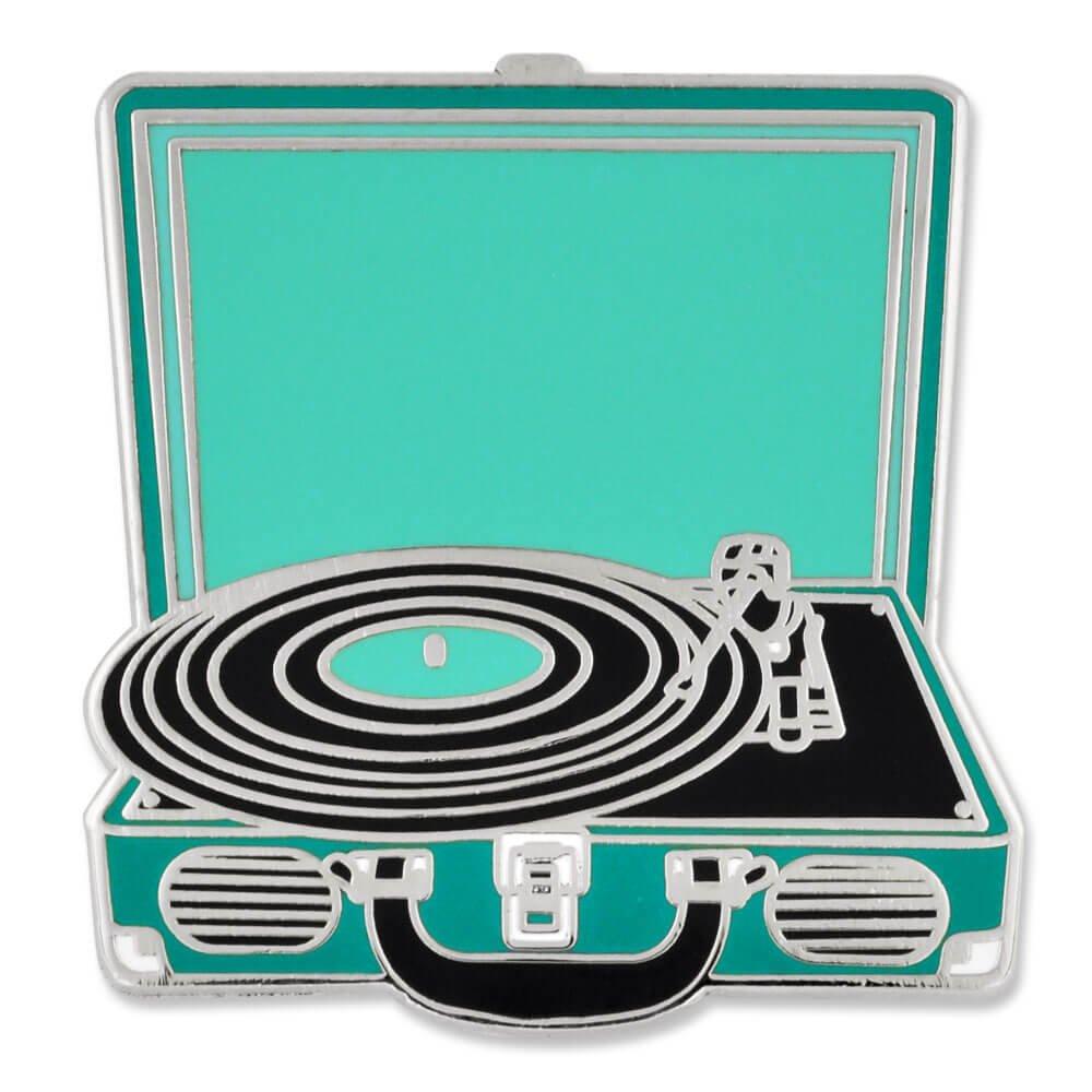 PinMart Retro Vinyl Record Player Music Trendy Enamel Lapel Pin