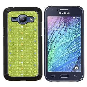 KLONGSHOP // Cubierta de piel con cierre a presión Shell trasero duro de goma Protección Caso - Paño de la historieta linda - Samsung Galaxy J1 J100 //