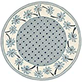 Safavieh Chelsea Collection HK724A Hand-Hooked Blue and Ivory Premium Wool Round Area Rug (3′ Diameter) Review