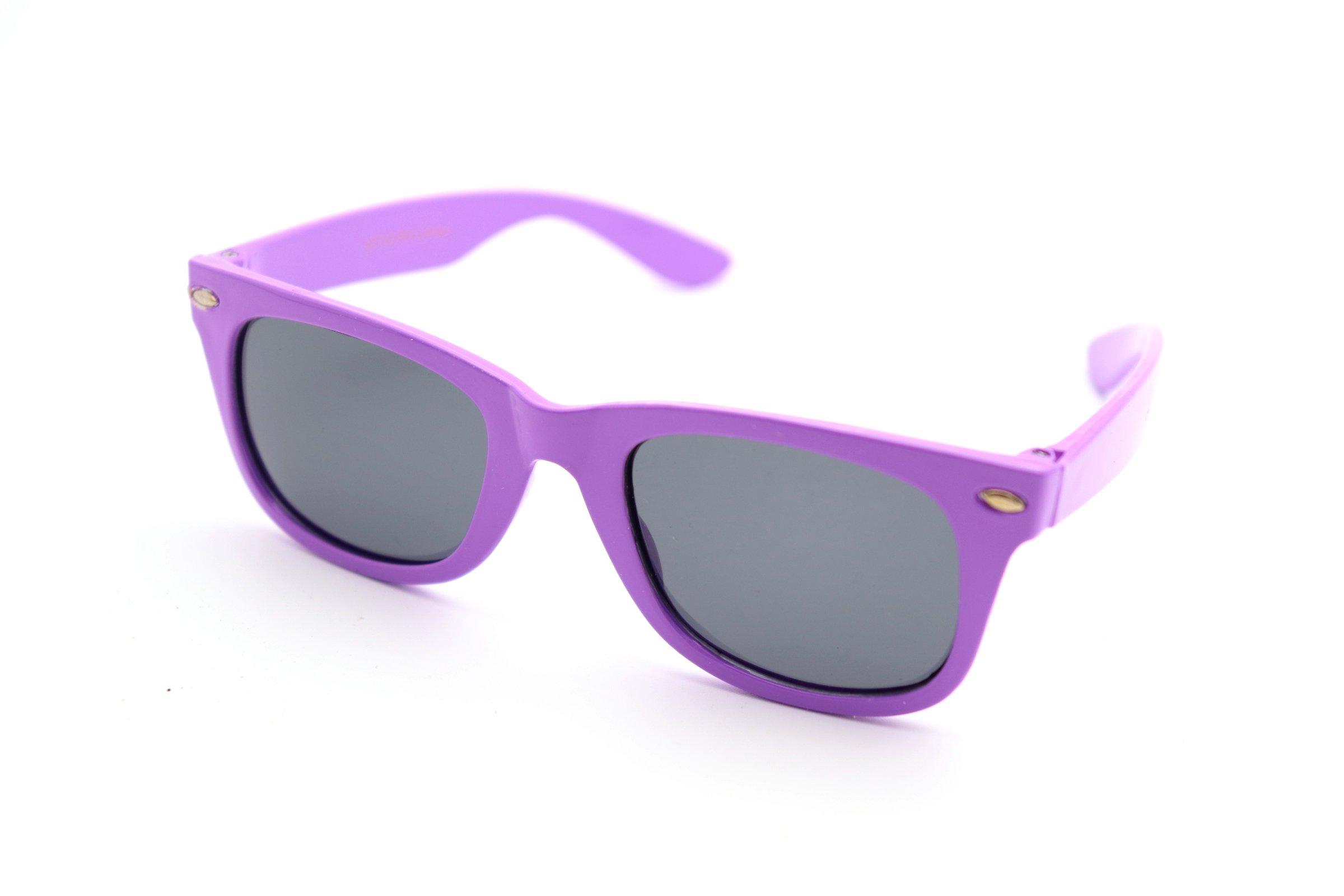 ColorViper Kids Polarized Sunglasses (Kids Wayfarer shiny purple / polarized, one color)