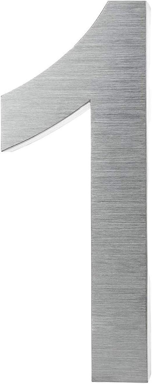 Numero civico in acciaio inox spazzolato V2A in design 3D antiruggine e resistente alle intemperie Numero civico altezza 20 cm//profondit/à 3 cm bel design 3D con materiale di montaggio
