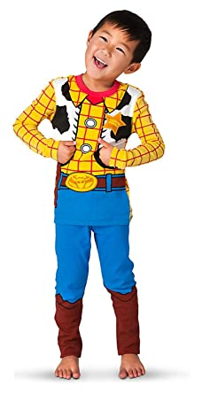 Disney Exclusive Sheriff Woody Costume PJ PALS Pajamas for Boys (7)  sc 1 st  Amazon.com : woody child costume  - Germanpascual.Com