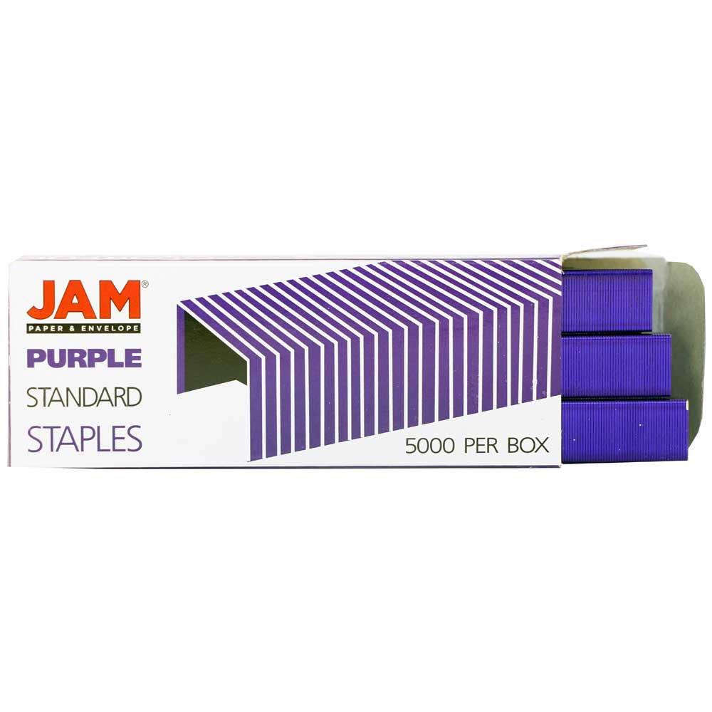 JAM PAPER Office Starter Kit - Purple - Stapler, Tape Dispenser, Staples, Paper Clips & Binder Clips - 5/Pack by JAM Paper (Image #8)