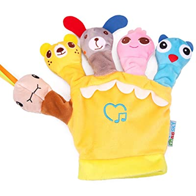 Bageek Hand Puppet Interactive Creative Animals Dolls Toy Finger Puppet for Kids: Toys & Games